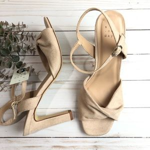 A New Day Blush Heels Size 9 NWT